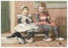 Cornelis Jetses (1873-1955)  -  Uit: Nog bij moeder - Postkaart -  C3392-1
