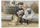 Cornelis Jetses (1873-1955) - Uit: Nog bij moeder - Postkaart - C3393-1
