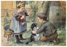 Cornelis Jetses (1873-1955)  -  Uit: Nog bij moeder - Postkaart -  C3394-1