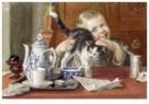 Cornelis Jetses (1873-1955) - Uit: Nog bij moeder - Postkaart - C3395-1