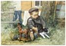 Cornelis Jetses (1873-1955)  -  Uit: Nog bij moeder - Postkaart -  C3396-1
