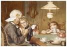 Cornelis Jetses (1873-1955)  -  Uit: Nog bij moeder - Postkaart -  C3397-1