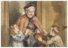 Cornelis Jetses (1873-1955)  -  Uit: Nog bij moeder - Postkaart -  C3399-1