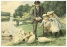 Cornelis Jetses (1873-1955)  -  Uit: Nog bij moeder - Postkaart -  C3403-1