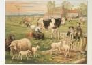 Cornelis Jetses (1873-1955)  -  Het volle leven: 'In de weide' - Postkaart -  C3661-1