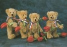 Mirja de Vries  -  Teddybears love flowers no. 15 / Sunny Bears - Postkaart -  C4214-1