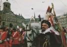 H.H. Straatmeijer  -  Sint op paard op de Dam - Postkaart -  C6759-1