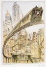Edward Sorel (1929)  -  The 3rd Avenue Elevated - Postkaart -  C7006-1