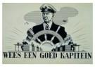 Charles Burki (1909-1994)  -  Wees een goed kapitein - Postkaart -  C7177-1