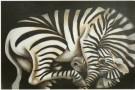 Charlotte Lyon (1956)  -  Falling Zebra - Postkaart -  C7512-1