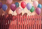 Stephen Hender  -  Balloons on Fence - Postkaart -  C8202-1