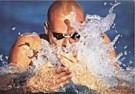 Laci Perenyi  -  Wasserspiele eines Brustschwimmers - Postkaart -  C8389-1