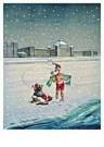 Jan Lavies (1902-2005)  -  Explotatie zeebad Sch - Postkaart -  C8529-1