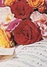 Anjo Kan  -  Rozen op Muziekblad - Postkaart -  C8550-1