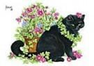 Francien van Westering (1951)  -  Sjaak in bloemen - Postkaart -  C8797-1