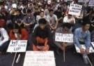 Frans Welman  -  Protest in Delhi - Postkaart -  C9317-1