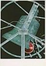 Frank Dam (1952)  -  Dam/ klok en kerstbal - Postkaart -  D0184-1