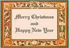 Django  -  Border, Merry Christmas - Postkaart -  D0571-1