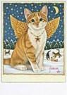 Francien van Westering (1951)  -  Binkie als kerstengel - Postkaart -  D0833-1