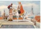 -  Sint en Piet op het dak, ca. 1930 - Postkaart -  D1110-1