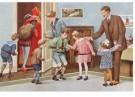 -  Na het bezoek van Sint en Piet, ca. 1930 - Postkaart -  D1119-1