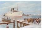 -  Aankomst van de stoomboot, ca. 1930 - Postkaart -  D1130-1