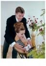 Spaarnestad Fotoarchief,  -  Huwelijksaanzoek bij de kerstboom - Postkaart -  D1188-1