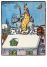 .  -  Sint op ezel op het dak - Postkaart -  D1223-1