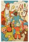 .  -  Sint en Piet tussen de kinderen - Postkaart -  D1228-1