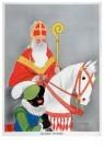 Willy Schermerle (1904-1995) - Sinterklaas en Zwarte Piet - Postkaart - D1244-1