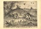P. van der Heyden (1520-1572)  -  Grote vissen eten de kleine - Postkaart -  DM044-1