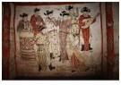 Anoniem  -  Muurschildering van musicerend gezelschap (1093 na Chr.) - Postkaart -  DMA00012-1