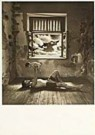 Jan Saudek (1935)  -  Man en kind voor raam - Postkaart -  F1696-1
