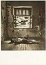 Jan Saudek (1935)  -  Saudek/ Man en kind voor raam - Postkaart -  F1696-1