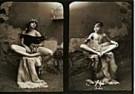 Jan Saudek (1935)  -  Saudek/ (2 meisjes,2-deling) - Postkaart -  F1717-1