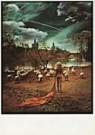 Jan Saudek (1935)  -  Saudek/ (girl, swans) - Postkaart -  F1771-1