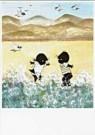 Fiep Westendorp (1916-2004)  -  Jip en Janneke staan in zee - Postkaart -  FWC050-1