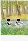 Fiep Westendorp (1916-2004)  -  Jip en Janneke in bootje - Postkaart -  FWC060-1