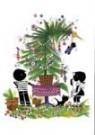 Fiep Westendorp (1916-2004)  -  J&J met kerstboom - Postkaart -  FWC268-1