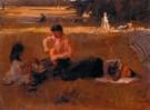 Isaac Israels (1865-1934)  -  Picknick in het bos - Boek of schrijfwaren -  PA033-1