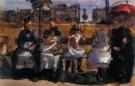Isaac Israels (1865-1934)  -  Op de Bank - Boek of schrijfwaren -  PA034-1