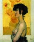 Isaac Israels (1865-1934)  -  Vrouw in profiel - Boek of schrijfwaren -  PA036-1