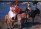 Isaac Israels (1865-1934)  -  Kinderen op ezeltjes - Postkaart -  PA037-1
