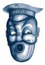 Paul Baars (1949)  -  Policeman 'X91086' looking for sailor '98016X' - Postkaart -  PB0118-1