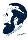 Paul Baars (1949)  -  Ambiguous figures. Sigmund Freud 'What's on a man - Postkaart -  PB0128-1