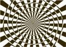 Paul Baars (1949)  -  Geometric-optical illusion. Twisted cirles - Postkaart -  PB0141-1