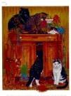 Francien van Westering (1951)  -  Feestkatjes - Boek of schrijfwaren -  PC048-1