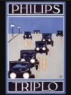 -  Triplo autolampen, Philips - Postkaart -  PS1043-1