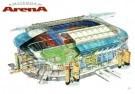 Rudolf Das (1929)  -  Stadion Amsterdam Arena/ 45*60 - Postkaart -  PS839-1
