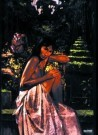 Nico Vrielink (1958)  -  2 aapjes in jungle - Postkaart -  PS857-1